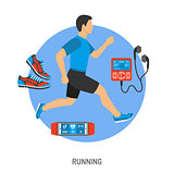Running and Jogging Concept
