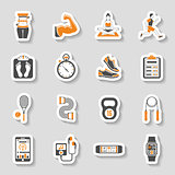 Fitness Icon Sticker Set