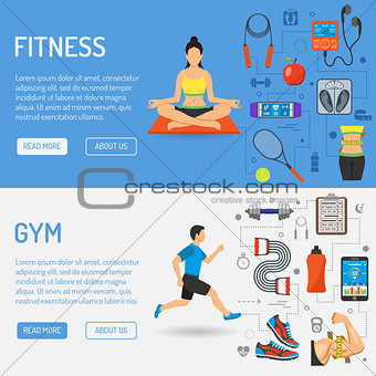 Fitness and Gym Banners