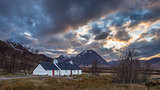 Sunset at Blackrock Cottage, Glencoe