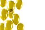 party gold balloons