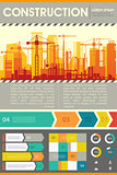 City Skyline Construction Illustration