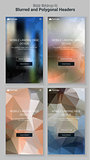 Blurred Polygonal Mobile Landing Page Kit