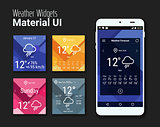 Weather widgets UI and UX material Kit