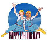 International labor day. The first of may.