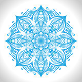 Color circular pattern. Round kaleidoscope of floral elements