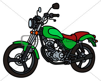 Green light motorcycle