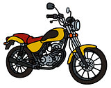 Yellow light motorcycle
