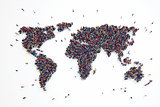3D rendering of people world