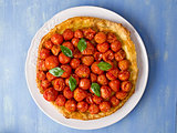 rustic cherry tomato tarte tatin