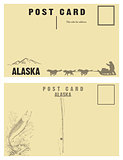 Vintage postcards for state of Alaska