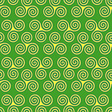 Seamless pattern with triple spiral shapes