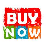 buy now drawn label