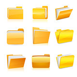 Set of computer folder. Vector
