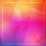 abstract orange pink background with shining white lines and fra