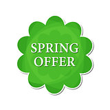 spring offer in green flower label