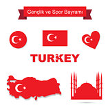 Turkey vector set