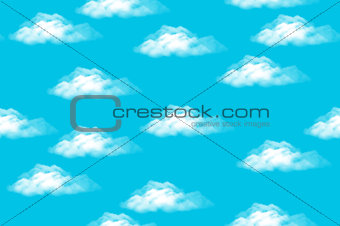 Sky with Clouds, Seamless