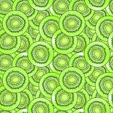 kiwi fruit seamless vector pattern