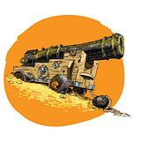 Pirate treasure marine gun