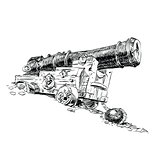 Cannon pirate vector graphics
