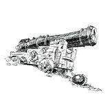 Cannon pirate vector graphics