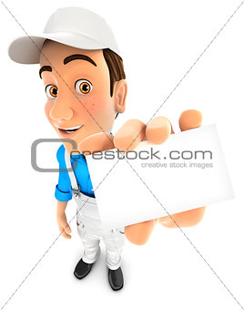 3d painter holding company card