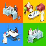 Arab Businessman Isometric People