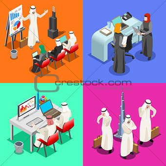 Arabian Business Isometric People