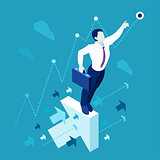 Business Graph 01 People Isometric