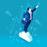 Business Graph 02 People Isometric