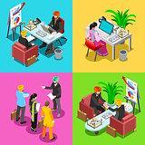 Business Indian 02 Isometric People