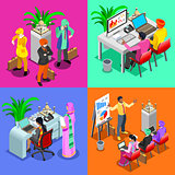 Business Indian 03 Isometric People