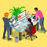 Business Indian 04 Isometric People