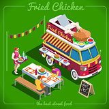Food Truck 10 Isometric Vehicles