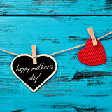 hearts and text happy mothers day
