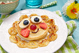 Pancakes with fruits for kids