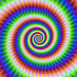 Green Blue Red and Yellow Spiral