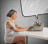 Pin-up writer