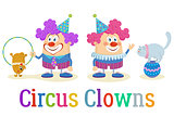 Circus Clowns with Trained Animals