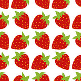 seamless of strawberries