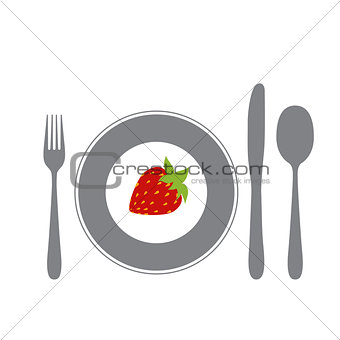 cutlery isolated on white