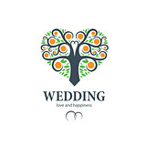 vector logo wedding