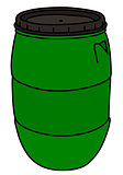 Green plastic barrel