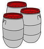 Light plastic barrels