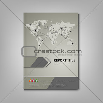 Brochures book or flyer with network connection design