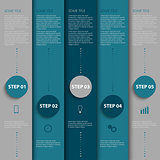 Info graphic with design blue and gray stripes template