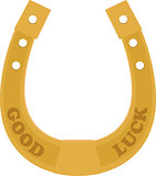 Golden Horseshoe traditional good luck charm