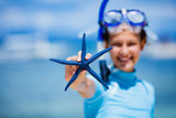 Girl with starfish