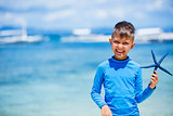 Boy with starfish